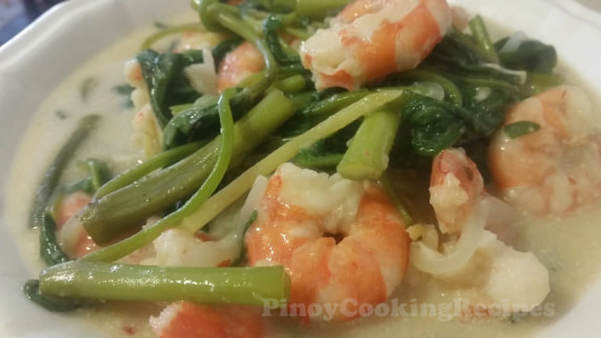 how to cook ginataang shrimp